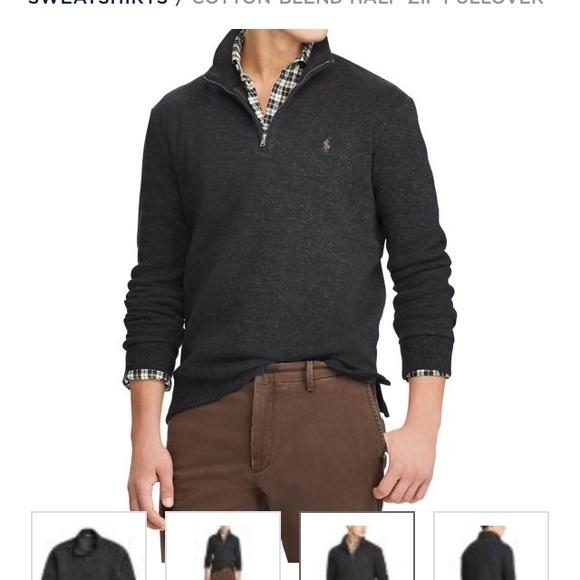 Men's Pullover Polo Zip Lauren Half Purple Ralph OPkwuTXZi
